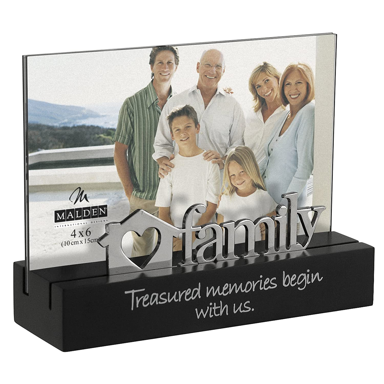 Amazon.de: Malden Familie Desktop Expressions Rahmen mit Silber Word ...