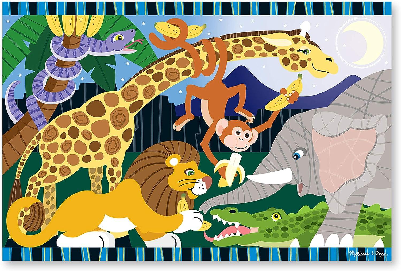 Melissa & Doug 24pc Safari Social Floor Puzzle