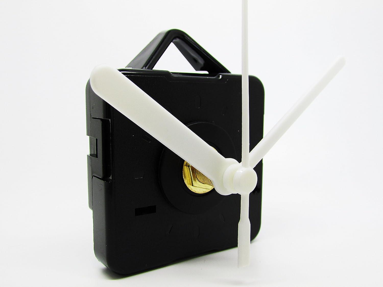 Motore per orologio al quarzo, senza ticchettio, lancette in plastica, mandrino extra lungo e accessori per il fissaggio, plastica, Multi, 39mm Black Dans Clock Shop