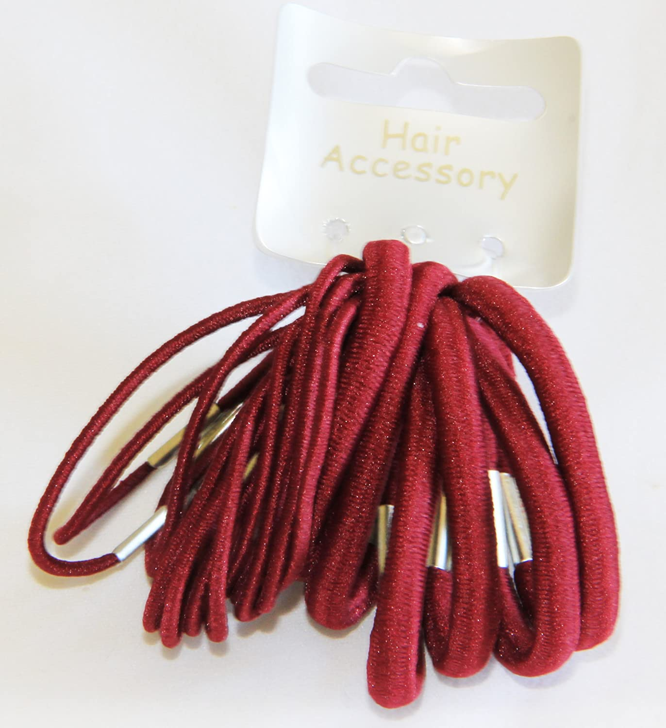 20 Piece Pink Red White Hair Elastic Band Bobble Snap Hair Clip Slide School Set