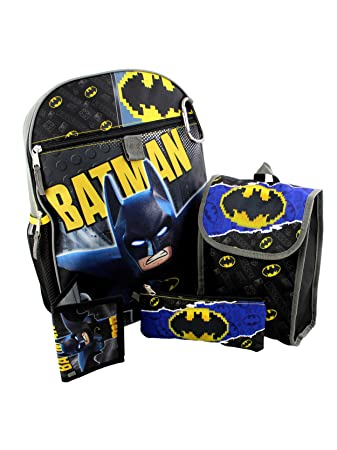 d59d3283d500 Lego Batman 5 piece Backpack School Set (One Size
