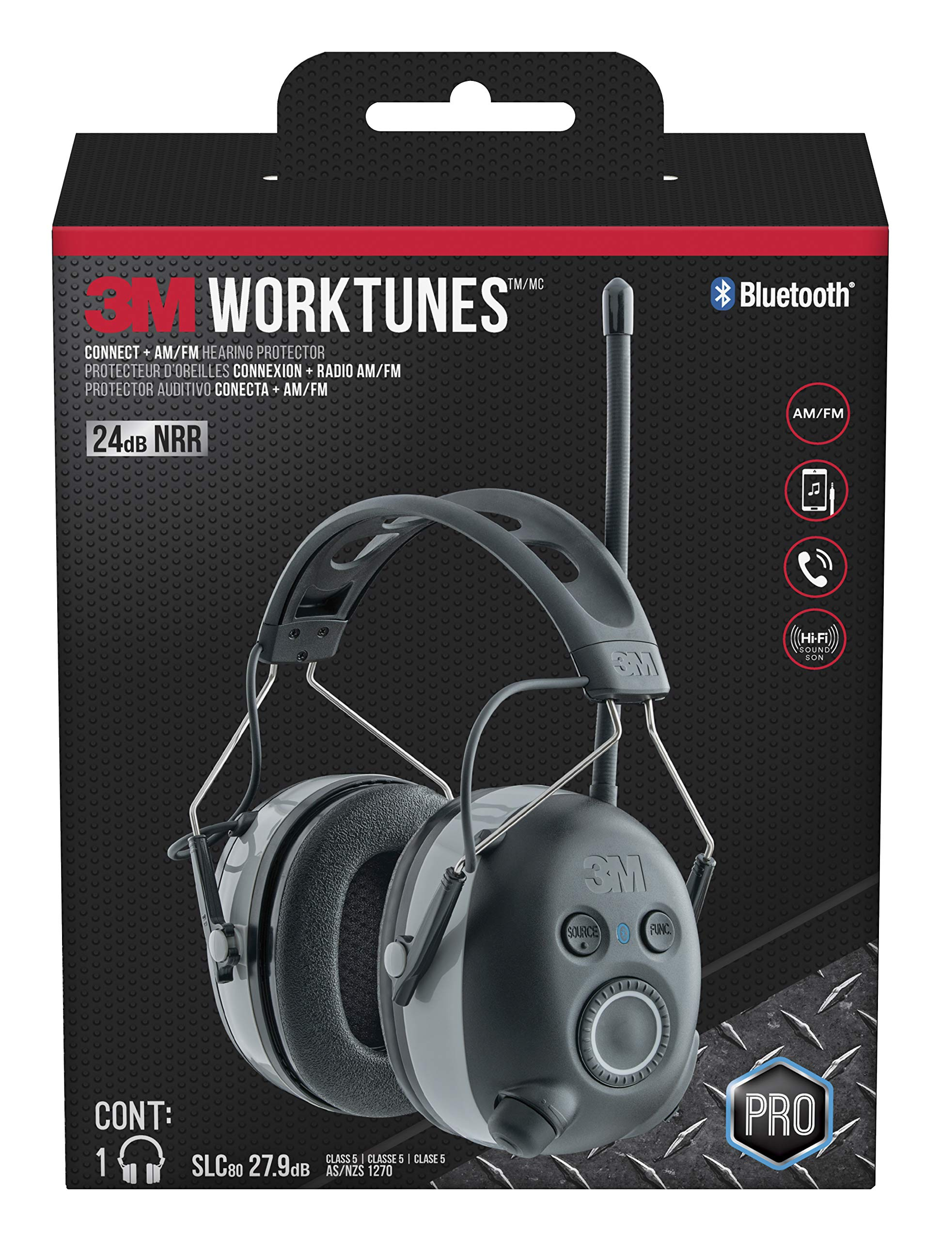 3M WorkTunes Connect + AM/FM Hearing Protector with Bluetooth technology by 3M Safety
