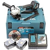 Makita DGA511RTJ Meuleuse d'angle sans fil 18 V/5 Ah 2 batteries + chargeur