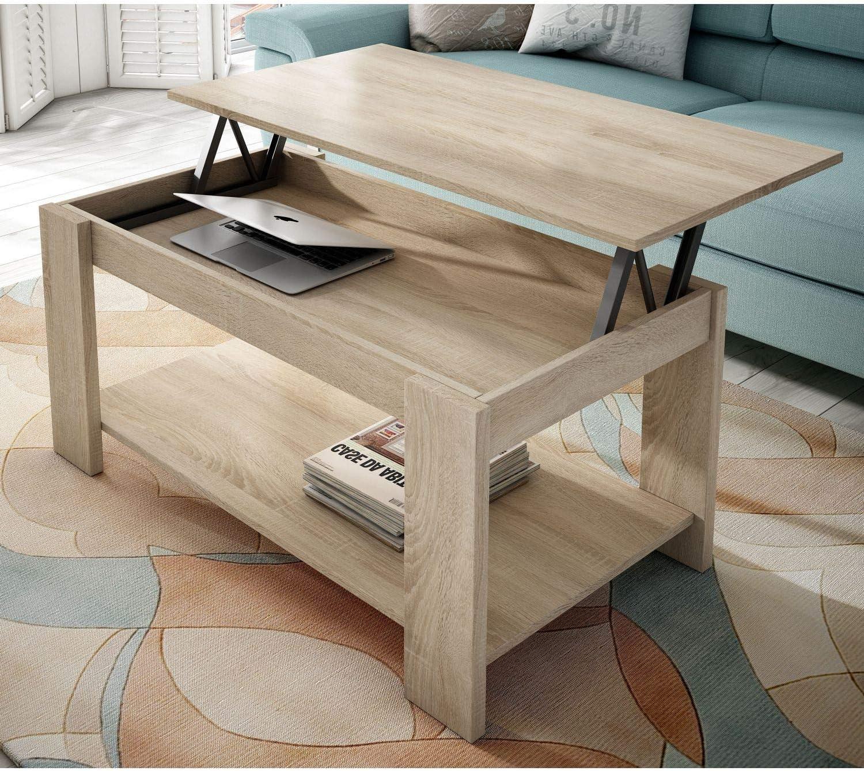 Muebles Baratos Mesa de Centro elevable, Color Cambrian, con revistero, ref-97: Amazon.es: Hogar