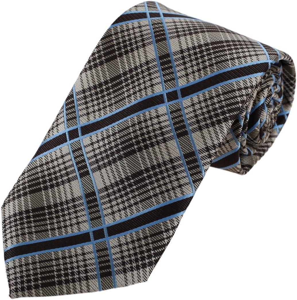 DAA7C09B Orange Black Checkered For Work-Utility Tie Woven Microfiber Fantastic Tie By Dan Smith