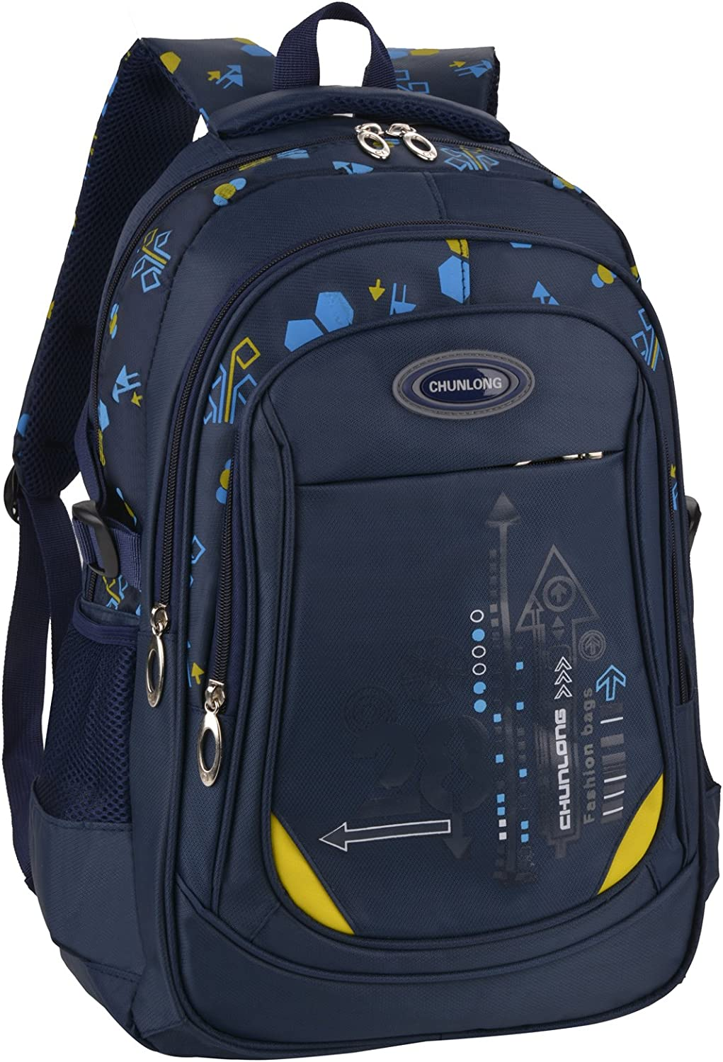 HZH Mens Outdoor Canvas Backpack Casual Backpack Large Capacity Travel Bag Student Fashion Bag Blue