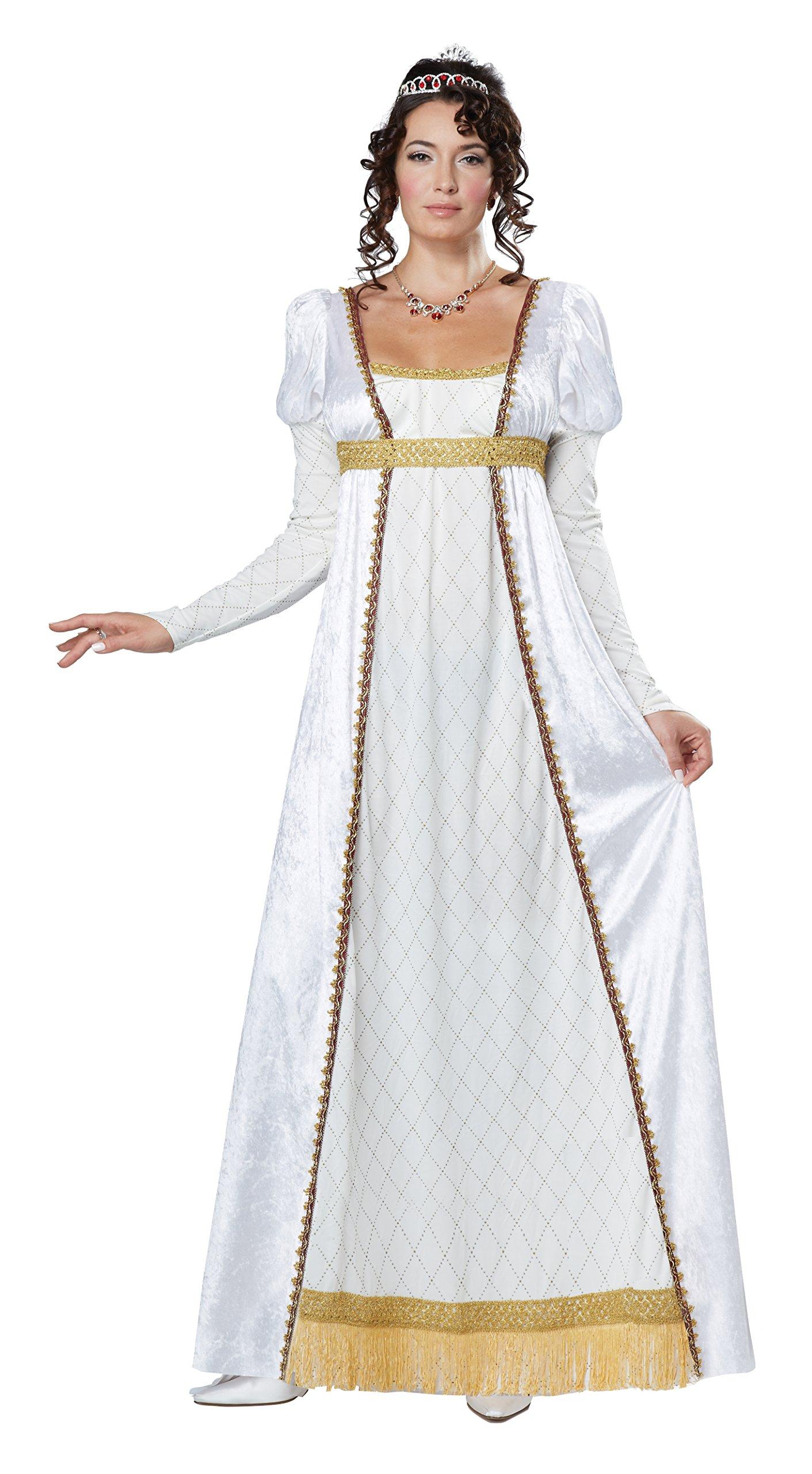 California Costumes Women's Josephine French Empress Costume, White/Gold, Small