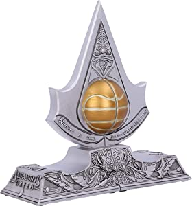 Nemesis Now Officially Licensed Assassin's Creed Apple of Eden Resin Bookends, Silver, 18.5cm