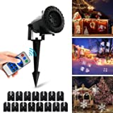 Vansky Led Projector Lights, Led Projector Lights with RF Remote Control, 15 Slides Dynamic Lighting for Mother's Day,Holiday Decoration,Wedding,Birthday Party Decoration