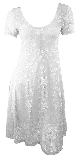 # 4224 vestido de mujer Punta Para Vestido de noche vestido de encaje viscosa manga corta negro: Amazon.es: Ropa y accesorios