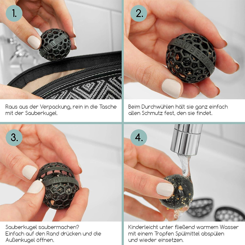 Rucksäcken u Die clevere Art der Reinigung von Taschen Sauberkugel schwarz