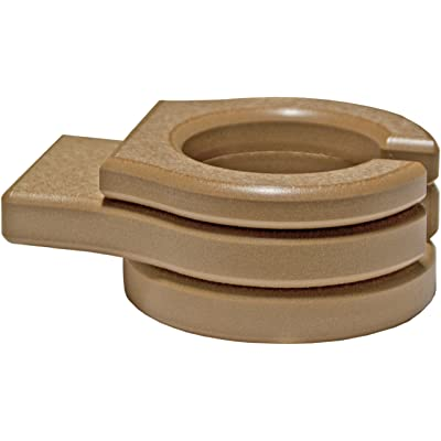 LuxCraft Poly Outdoor Stationary Cup Holder for Gliders, Benches, Deck Chairs (Earthtone - Cedar) : Garden & Outdoor