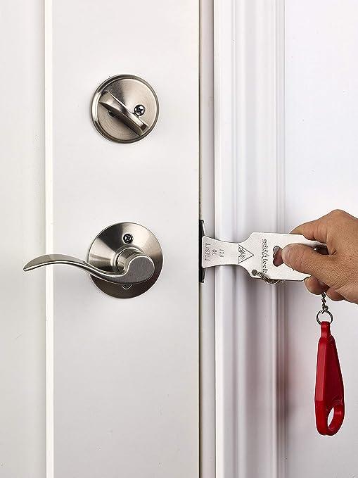 #8 Home Bedroom Door Lever Handle Privacy Lockset Entry Locker Keyed Doorlock Anti Theft