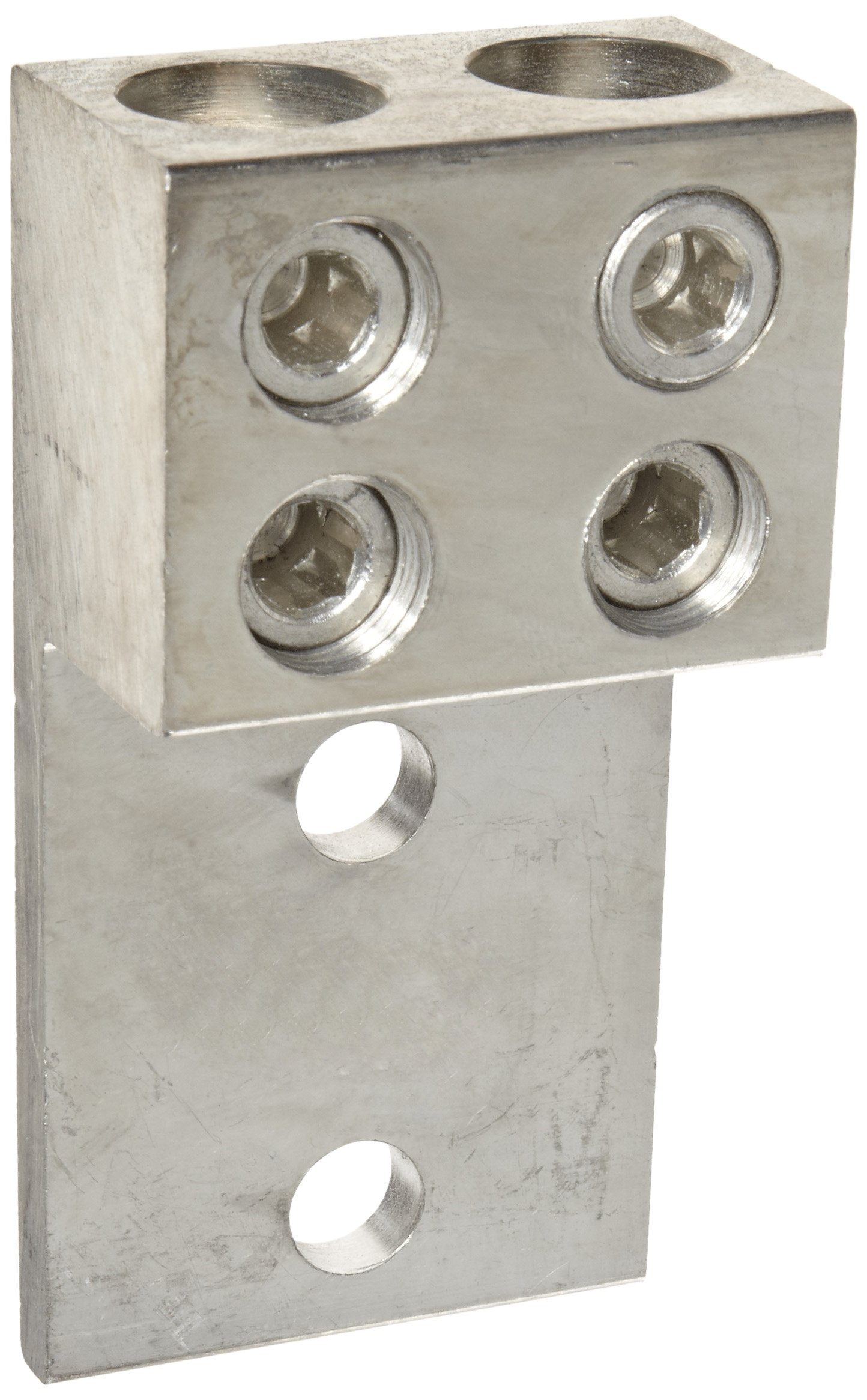 Morris Products 90951 Mechanical Lug, Two Conductors, Two Hole Mount, Aluminum, 600 AWG, 600mcm - 4SOL. Wire Range
