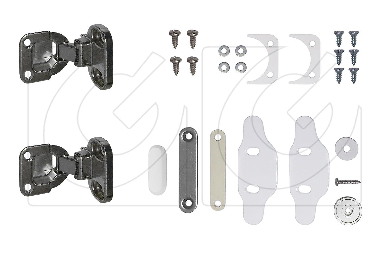 Kit de 2 bisagras para lavadora integrable + imán: Amazon.es ...