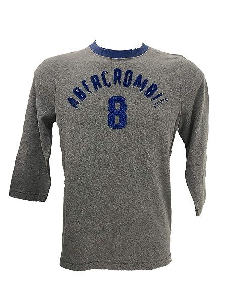 Abercrombie & Fitch - Camiseta de Manga Larga para Hombre Gris M ...