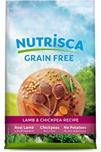 Dogswell NUTRISCA Premium Grain Free Dry Dog Food, Lamb & Chickpea Recipe