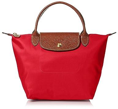 edbdb5348e4 Amazon.com: Longchamp Women's Le Pliage Small Handbag, Red Garance:  Longchamps: Shoes