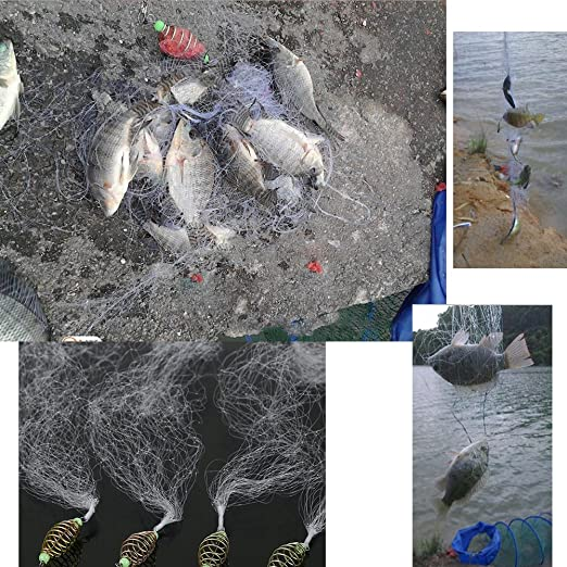 Fischernetze Angeln Net Kupfer Nylon mit Leuchtperlen f/ür Nacht Angeln 4 St/ück