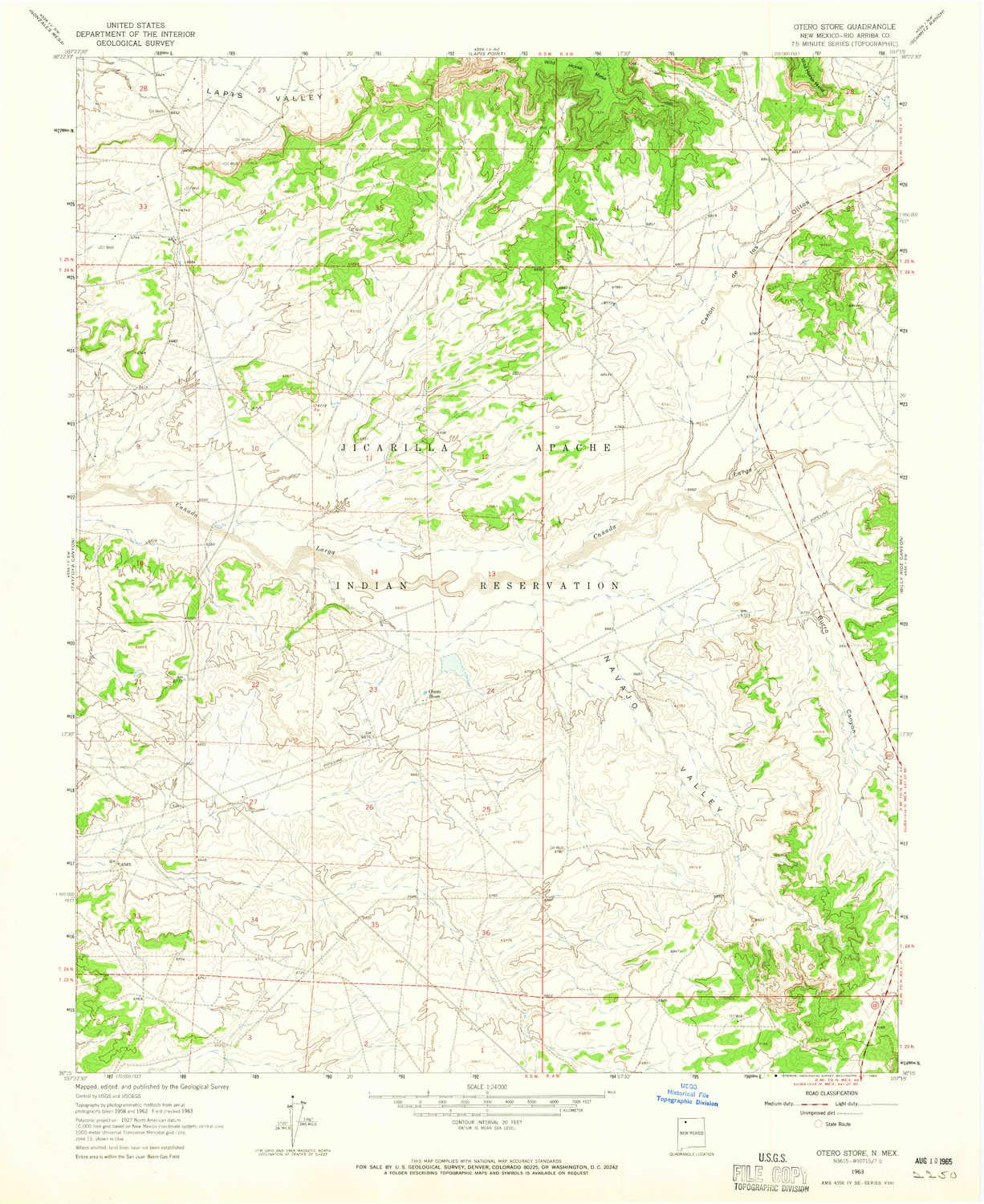 Amazon Com Yellowmaps Otero Store Nm Topo Map 1 24000 Scale 7 5