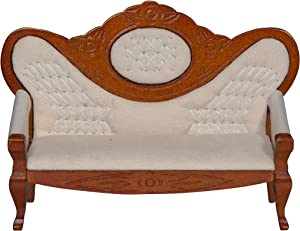 Inusitus Vintage Miniature Dollhouse Sofa - Dolls House Furniture Couch - 1/12 Scale (Medium)