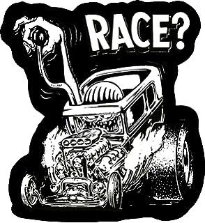 CASH RAT ROD HOT ROD CHOPPER  VINTAGE RACING RAT FINK STICKER   ROCKABILLY