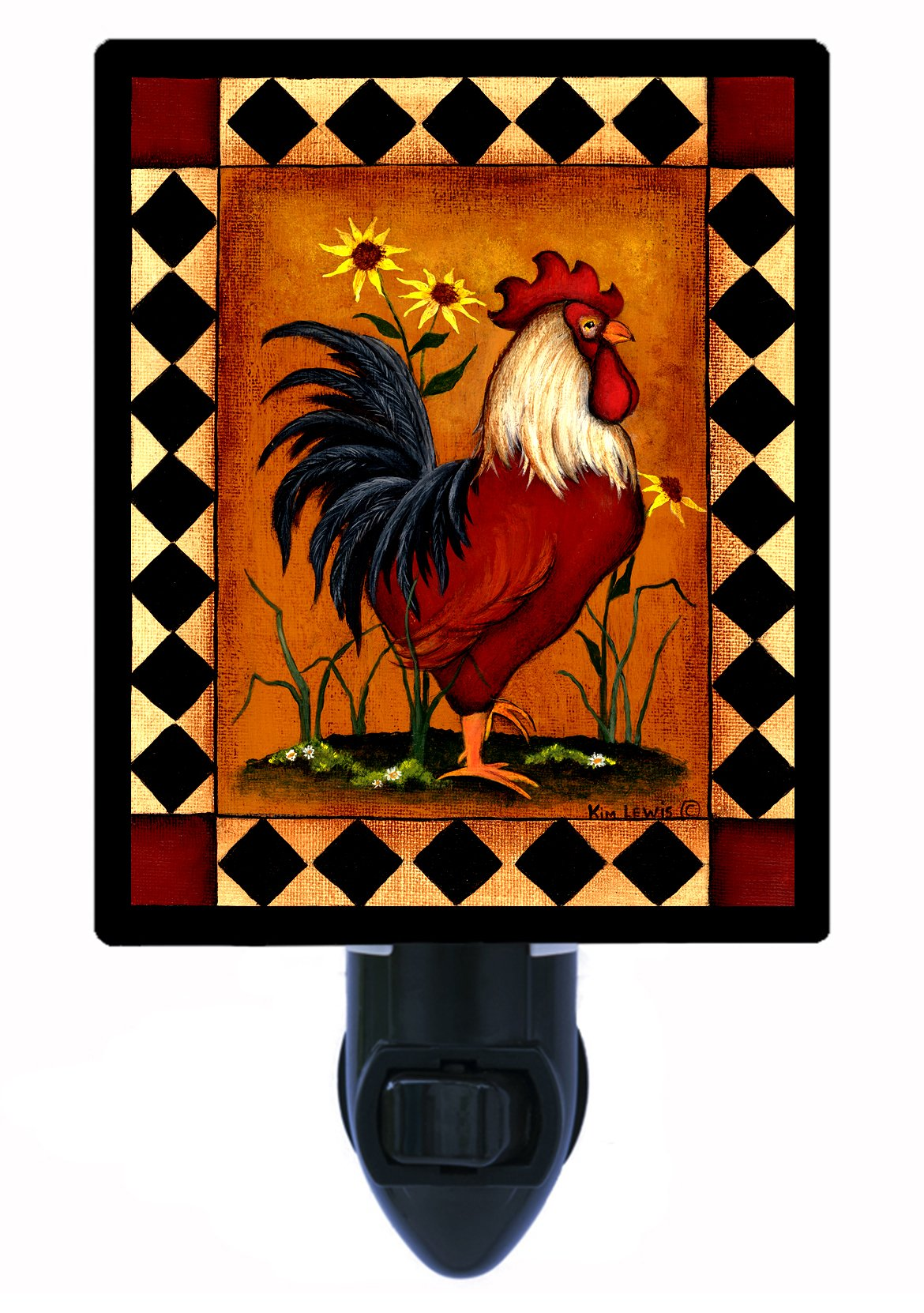 Country Kitchen Night Light - Red Rooster - LED NIGHT LIGHT