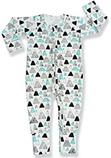 e52286b45c Pajammie Zipsuit Unisex Baby Bamboo and Organic Cotton Romper Footie with 2-way  zip (