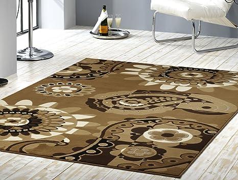Tappeto marrone beige anni stile tappeto moderno soggiorno