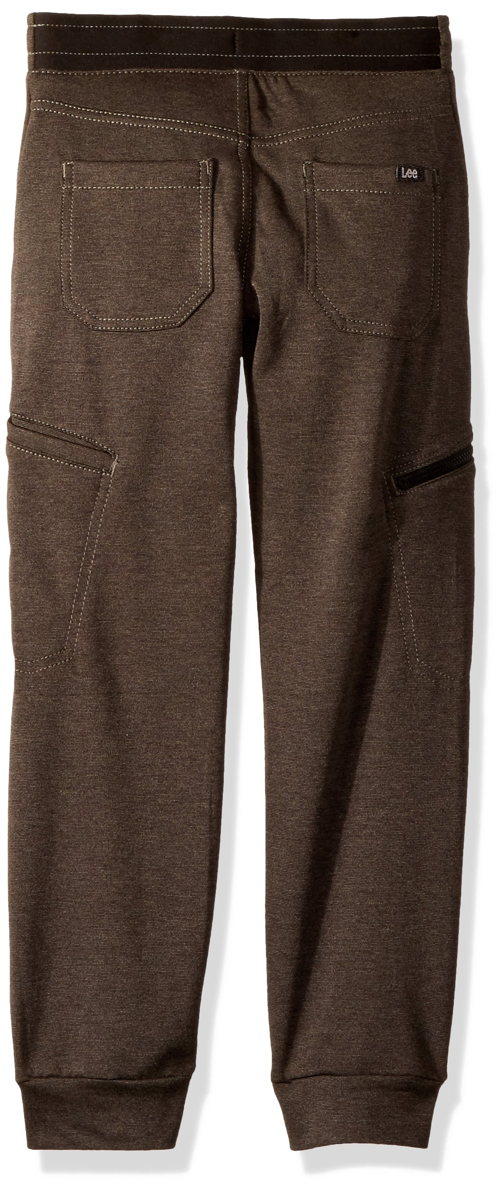 LEE Boys' Little X-Treme Comfort Pull-On Jogger Pant, Black Heather 5 Regular by LEE (Image #2)