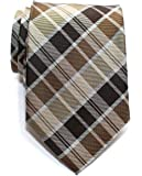 Retreez Modern Tartan Check Styles Woven Microfiber Men's Tie - Various Colors