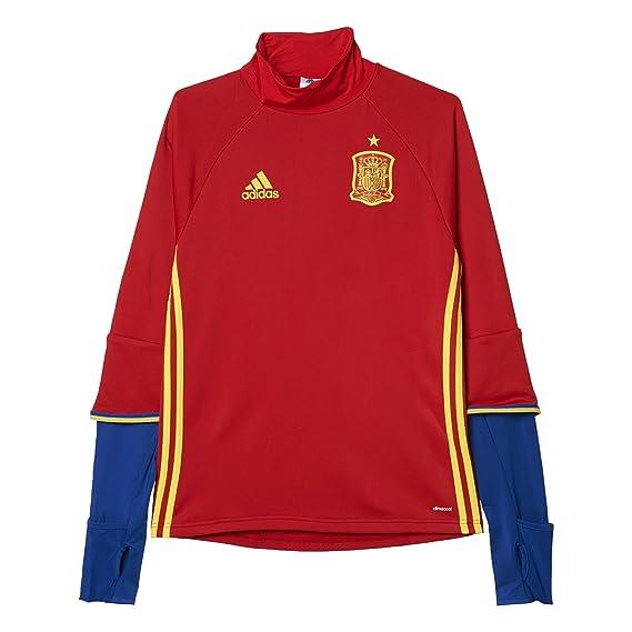 Adidas Federación Española de Fútbol Euro 2016 - Camiseta de Entrenamiento de Manga Larga: Amazon.es: Zapatos y complementos