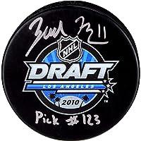 "$69 » Zach Hyman Toronto Maple Leafs Autographed 2010 NHL Draft Logo Hockey Puck with""Pick #123"" Inscription - Fanatics Authentic Certified"