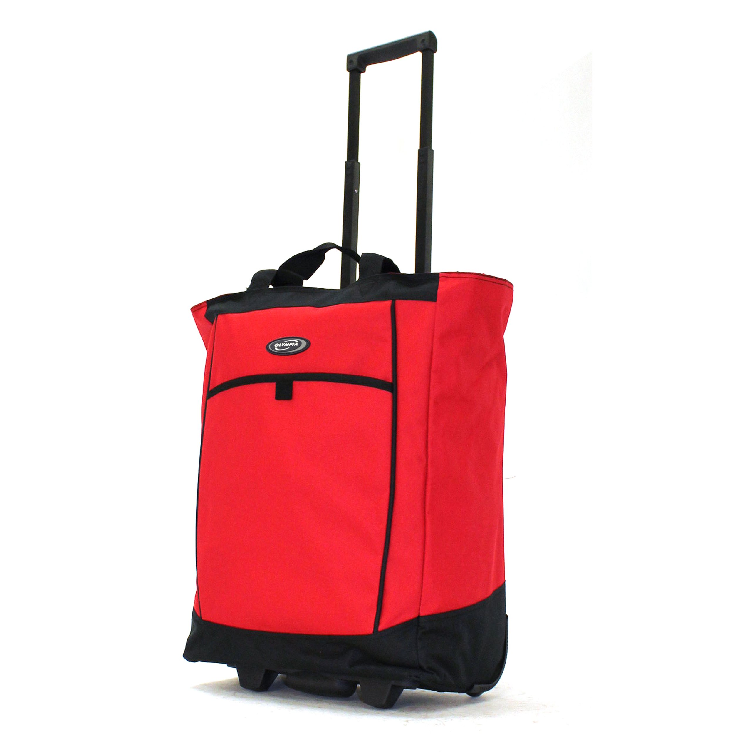 Olympia Fashion Rolling Shopper Tote - Red, 2300 cu. in.