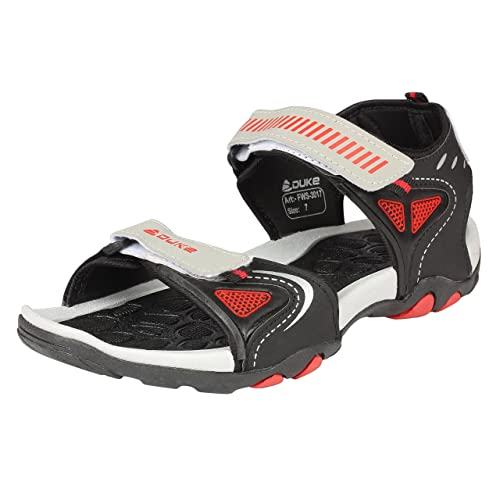 b7300474f392 Duke Men Black and Red Sandals  Buy Online at Low Prices in India -  Amazon.in