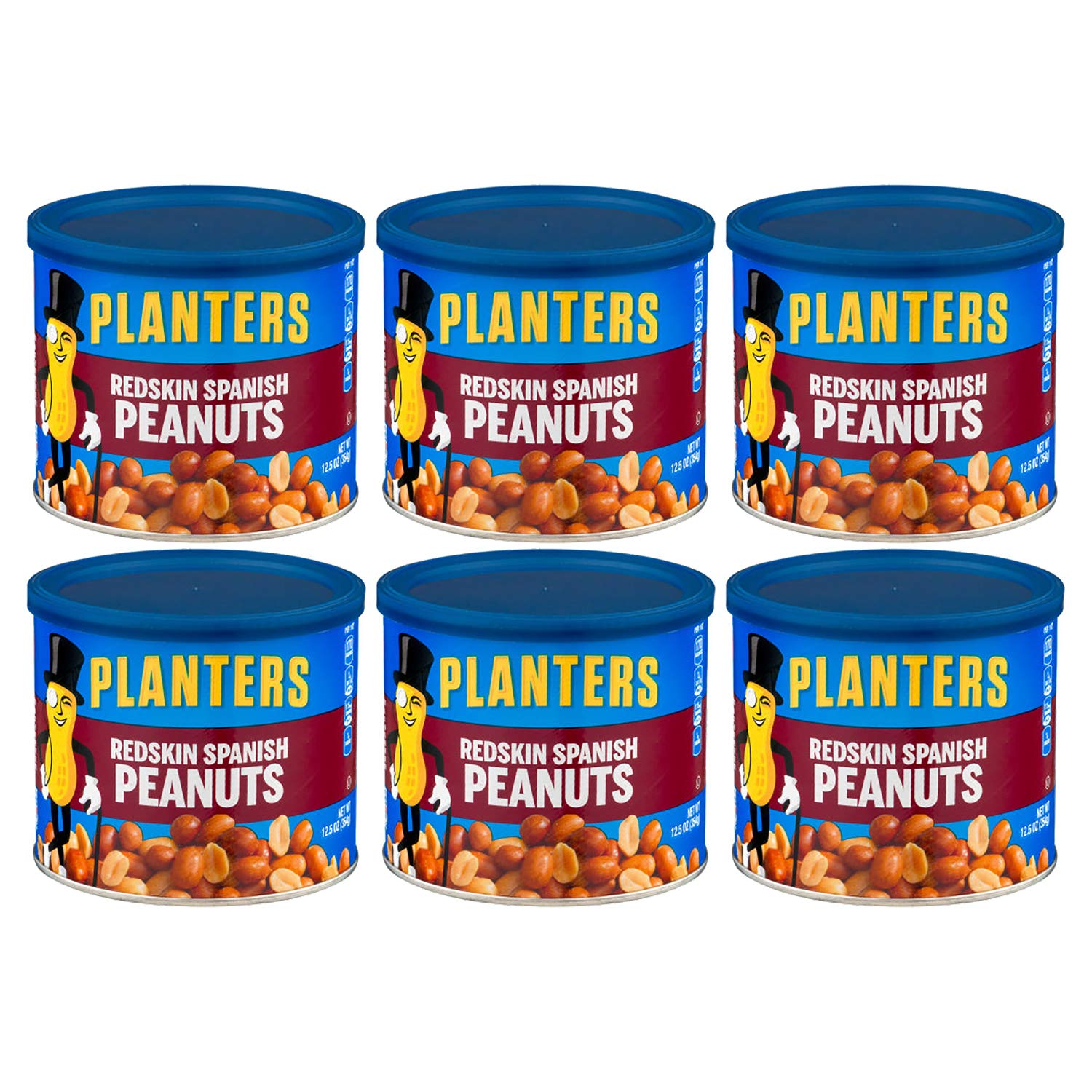 Planters Redskin Spanish Peanuts Sea Salt, 12.5 OZ (Pack of 6) by Kraft by Planters (Image #1)