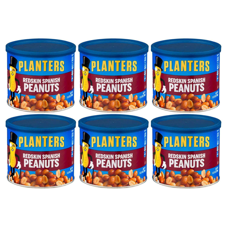 Planters Redskin Spanish Peanut 12.5 OZ (Pack of 6)