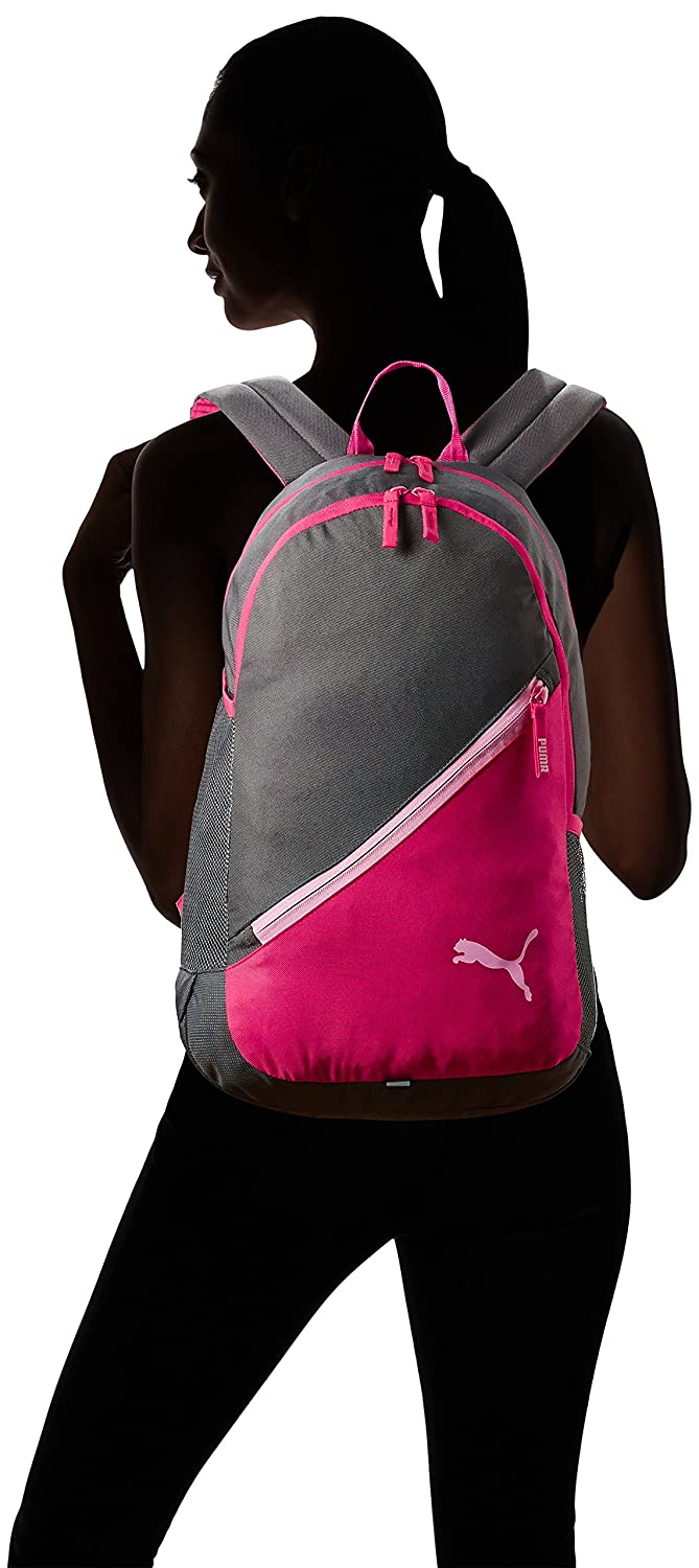 06a0e464eb30 Puma 17 Ltrs Grey-Pink Casual Backpack (7512102)  Amazon.in  Bags ...