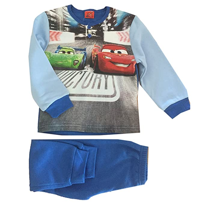 Amazon Disney Cars Pigiama A 5 Felpato Blu Cotone it Bambino p85aZw