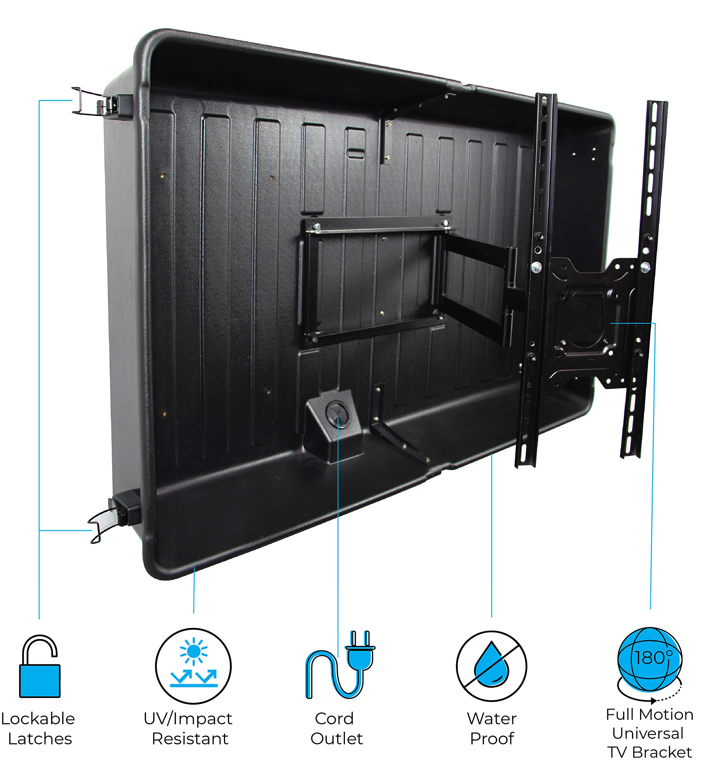 Storm Shell SS-44 Outdoor TV Enclosure, 32-44 inch, 32-44 inch
