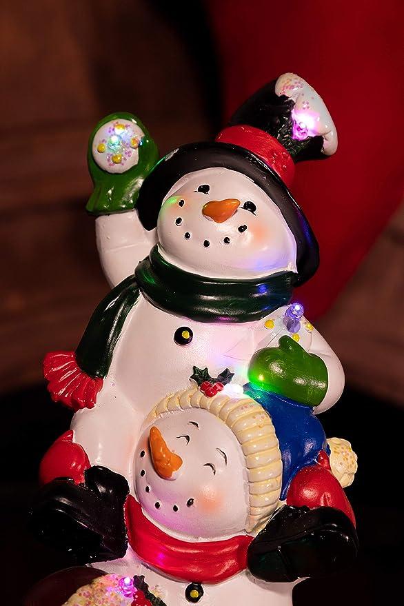 Amazon.com: Alpine Corporation 13 en. Tres muñecos de nieve ...