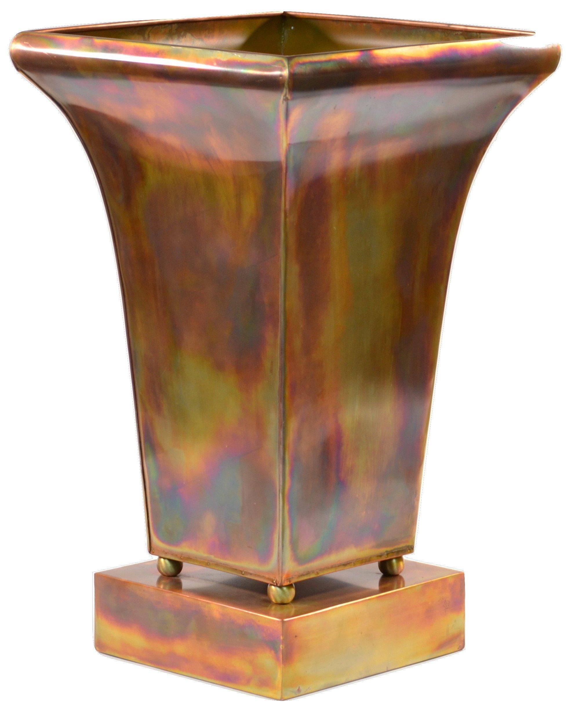 H Potter Planter Indoor Outdoor Rustic Copper Garden Flower Pot