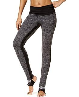 28b5ee4191dd6 Gaiam Women's Avalon Foldover Waistband Legging Performance Compression  Stirrup Pant