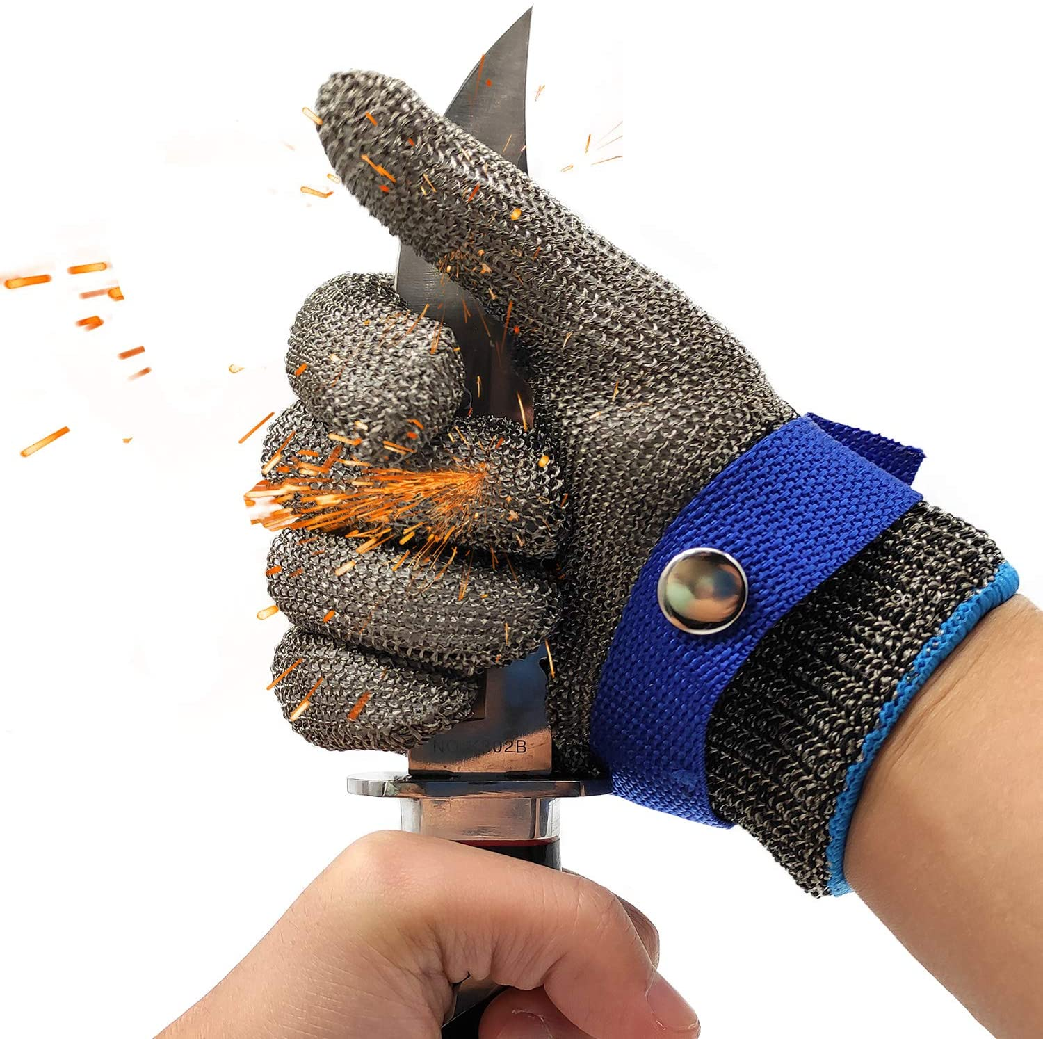 Cut Resistant Wire Metal Mesh Butcher Gloves Glass Gloves Tools Stainless Steel