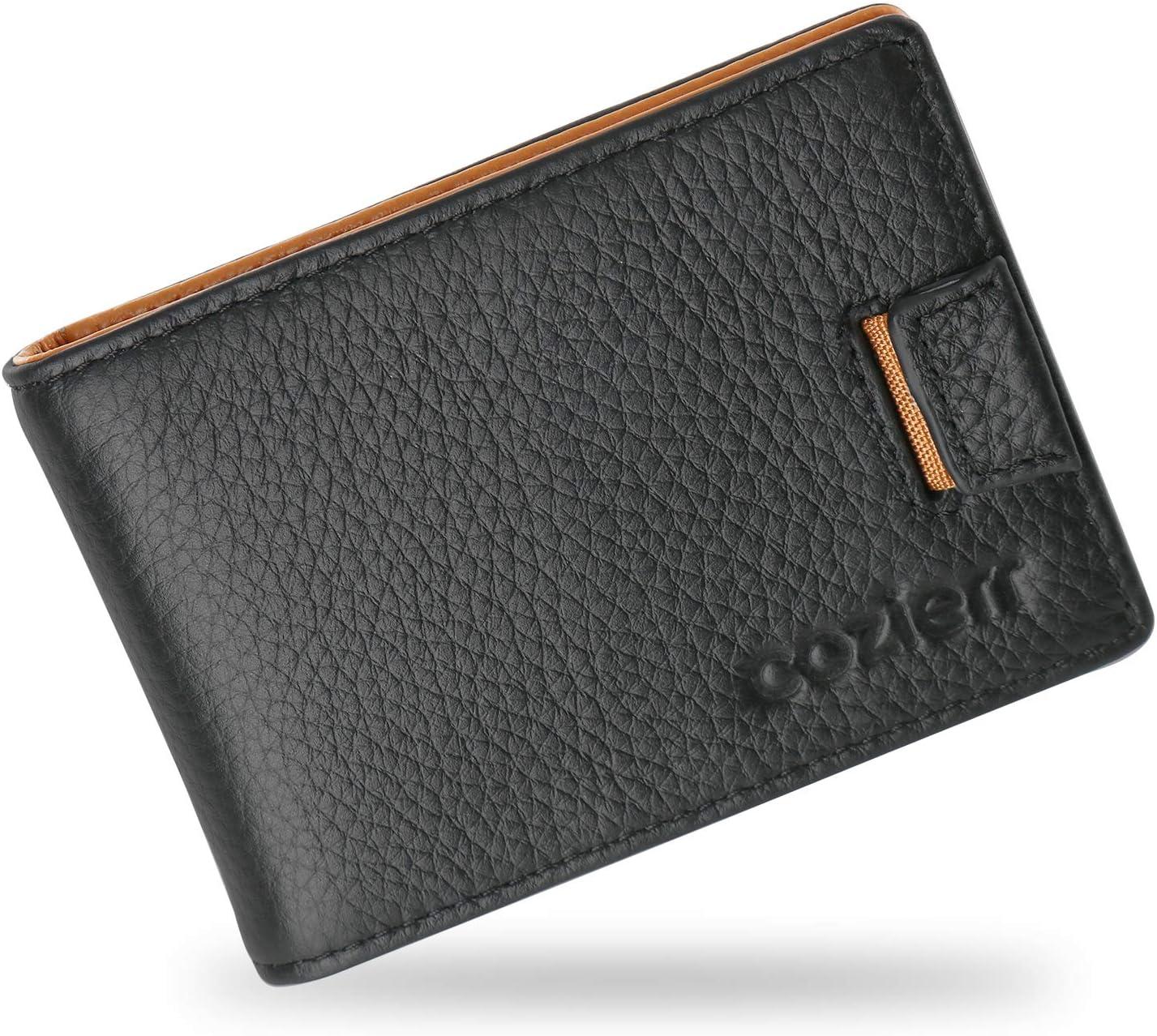 Amazon.com: Billetera minimalista RFID para hombre ...
