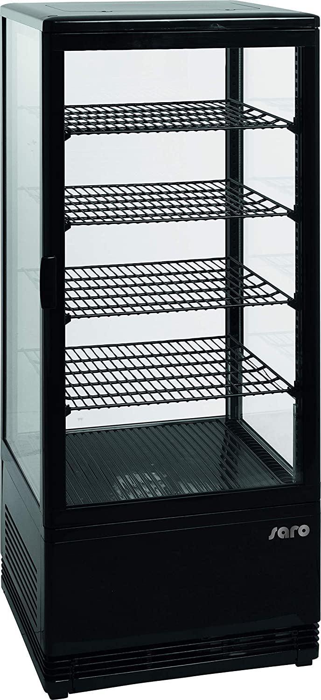 Pantalla Cristal nevera vitrina Saro SC 100 litros, color negro ...