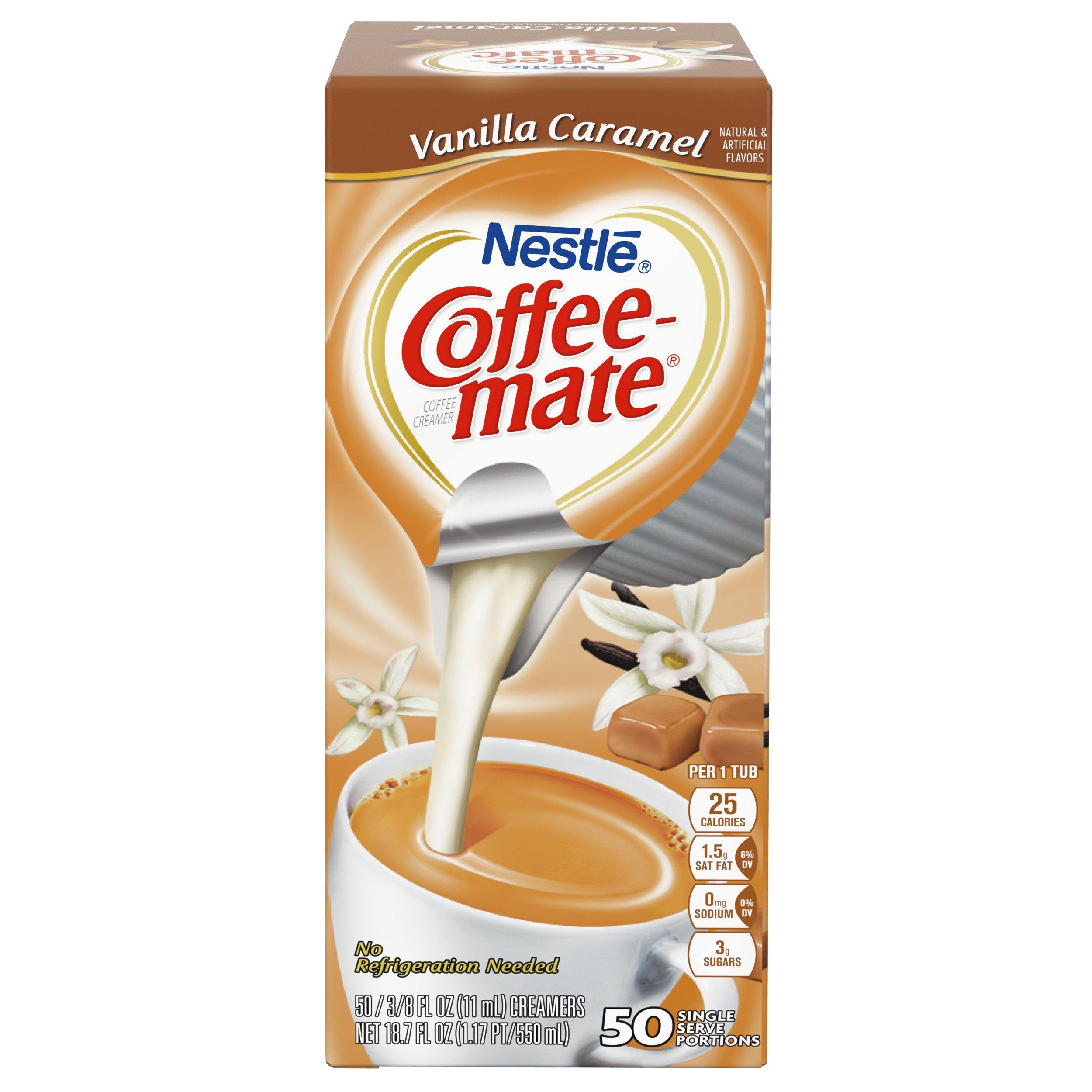 NESTLE COFFEE-MATE Coffee Creamer, Vanilla Caramel, liquid creamer singles, Pack of 50 by Nestle Coffee Mate (Image #4)