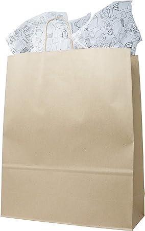 Sac Cadeau Papier,100PCS Sachets Papier 4 Mod/èles Kraft Sacs en Papier Bonbons Sac pour Une F/ête DAnniversaire F/ête de C/él/ébration Enfants Ou Bonbons en Vrac de No/ël Petit Kit Cadeau pour P/âtisserie