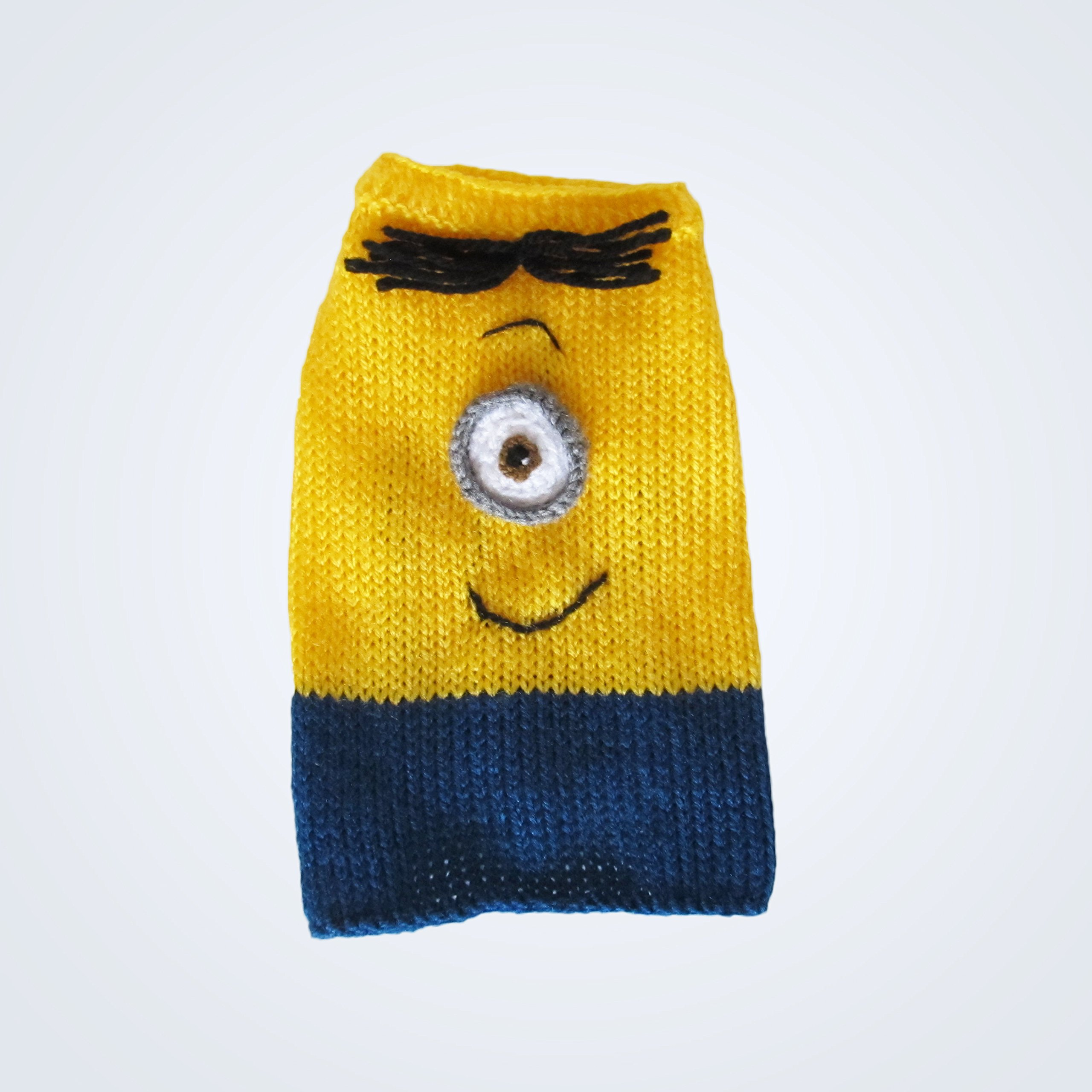 Minion Dog Costume XXXS Dog Sweater Puppy Costume XXX Small Dog Outfits Teacup dog Clothes for Pets Chihuahua Yorkie Toy Dogs - Different Sizes Available (XXXS)