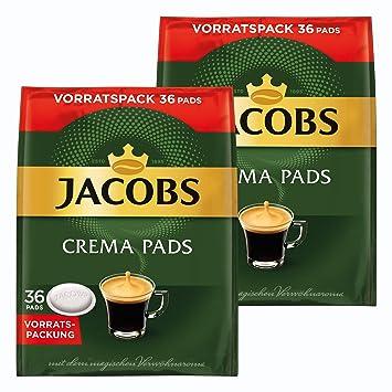 Jacobs Crema monodosis, Tarro Paquete, para Todas Las máquinas Pad, 72 Café Pads, Á 6.6 g: Amazon.es: Hogar